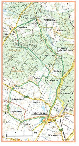 Mapa pętli rowerowej