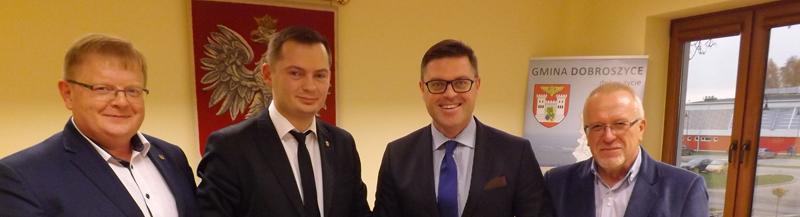 Spotkanie Wójta z  Wicemarszałkiem Członkiem Zarządu Województwa  Dolnośląskiego Jerzym Michalakiem