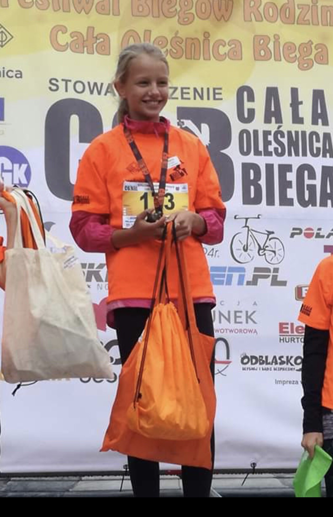 Cała Oleśnica Biega - 1 miejsce w biegu na 200 m