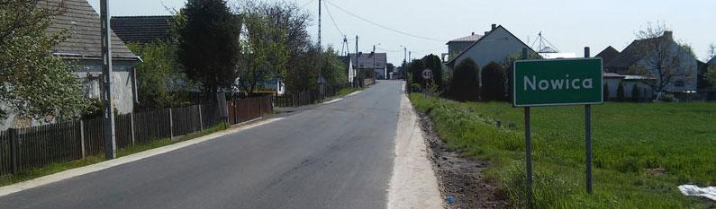 Budowa chodnika z Dobroszyc do Nowosiedlic i nowa nawierzchnia drogi w Nowicy - inwestycje współfinansowane