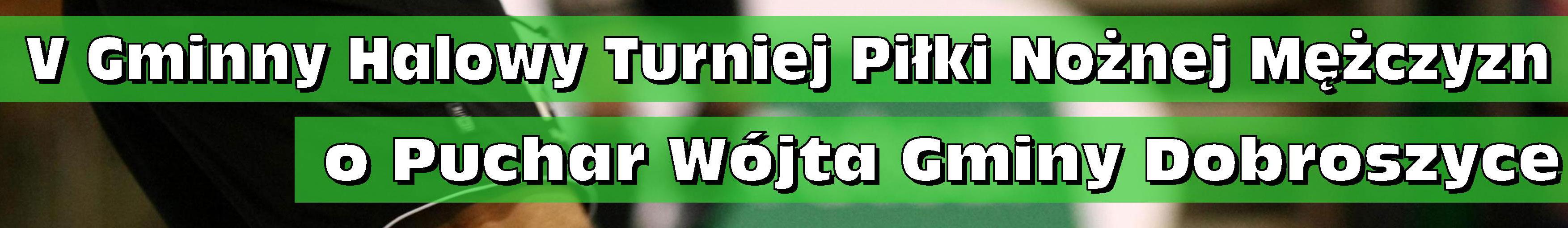 V Gminny Halowy Turniej Piłki Nożnej Mężczyzn o Puchar Wójta Gminy Dobroszyce