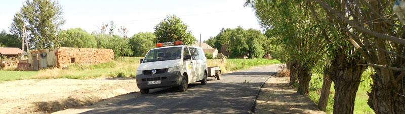 Przebudowa dróg  w Łuczynie i Malerzowie