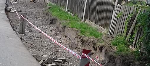 Budowa chodnika prowadzącego do szkoły w Dobrzeniu