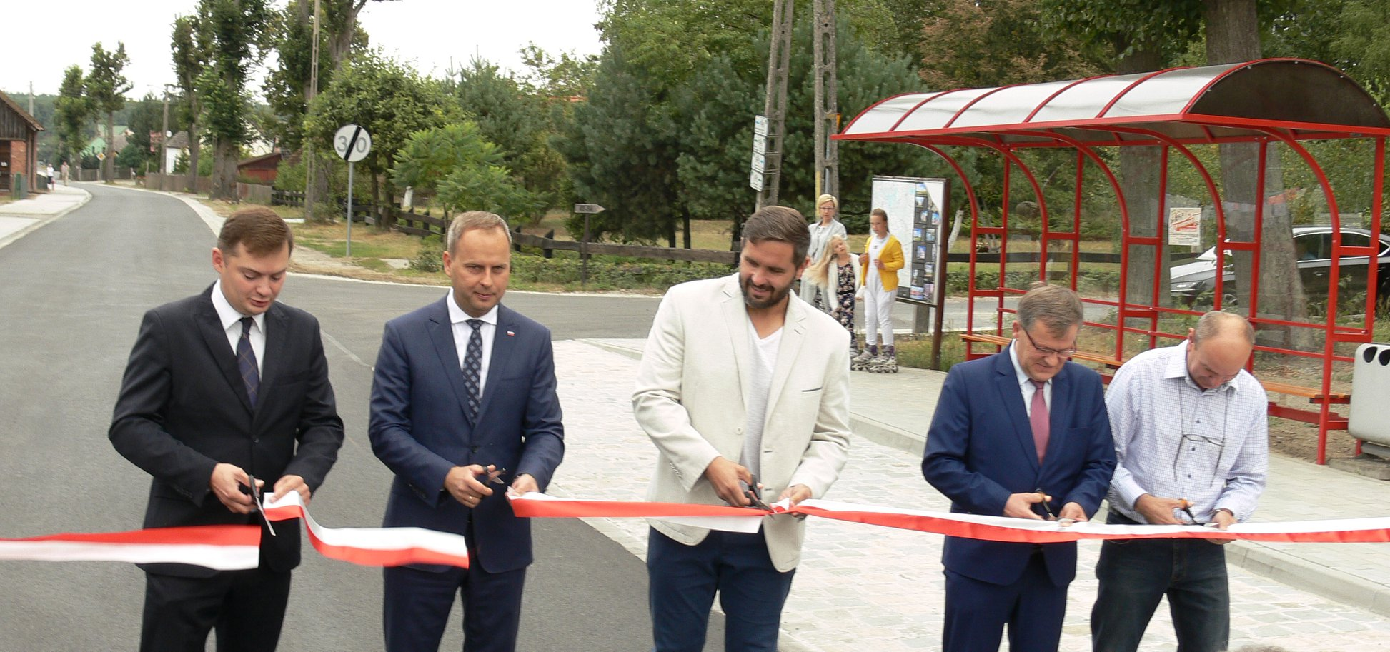 Otwarcie nowo wybudowanej drogi  gminnej
