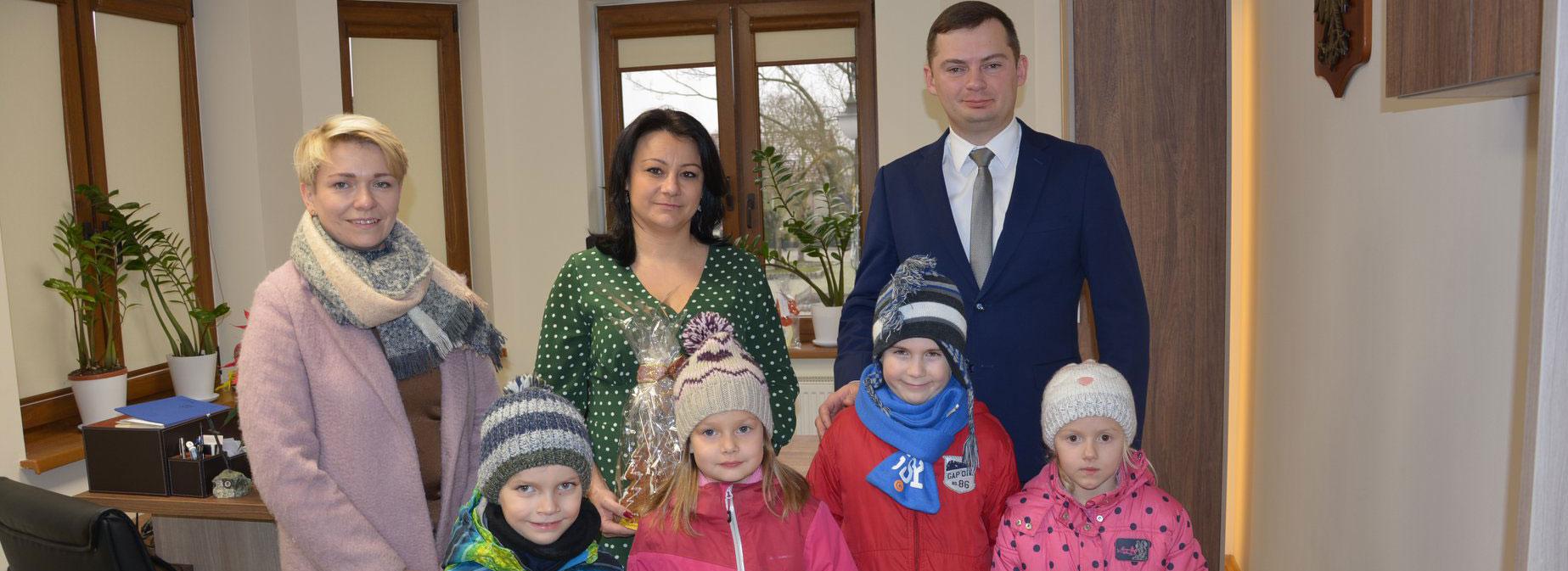 Wizyta przedszkolaków w Urzędzie Gminy