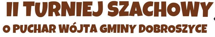 II Turniej Szachowy o Puchar Wójta Gminy Dobroszyce